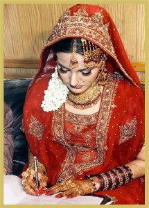 Pictures of Court Marriage Nikah online on phone Bride Groom imag
